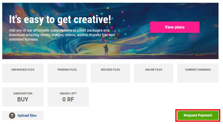 Вывод денег с Dreamstime.com. Инструкция.