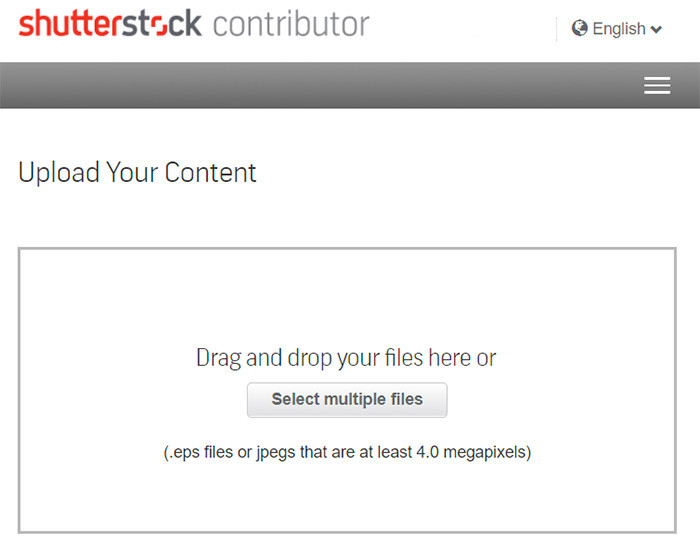 shutterstock upload form