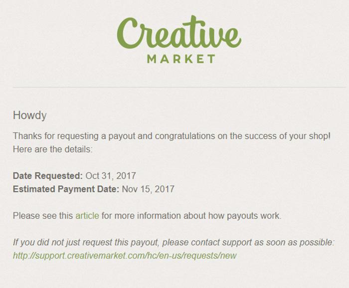 Вывод денег с Creativemarket.com. Инструкция.