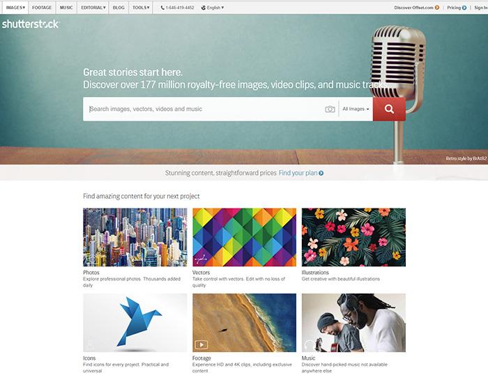 Фотобанк Shutterstock является лидером индустрии.