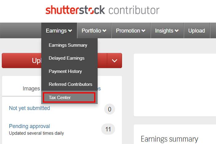 Заполнение налоговой формы W-8BEN на микростоке Shutterstock