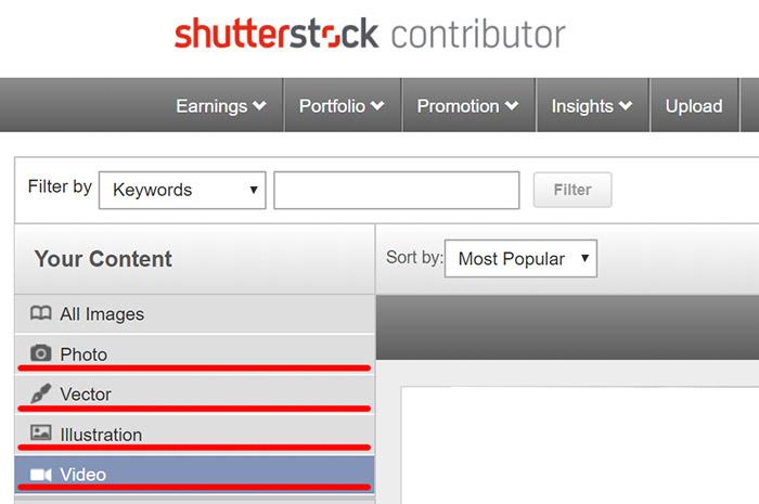 Shutterstock.com добавил в Catalog Manager отображение Видео.