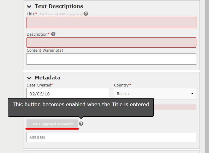 В ESP Istockphoto добавили возможность подбора ключевых слов.