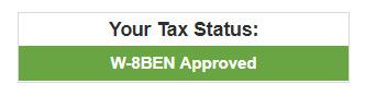 Заполнение налоговой формы W-8BEN на микростоке Bigstock