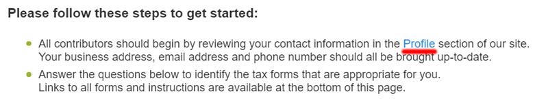 Заполнение налоговой формы W-8BEN на микростоке Depositphotos.