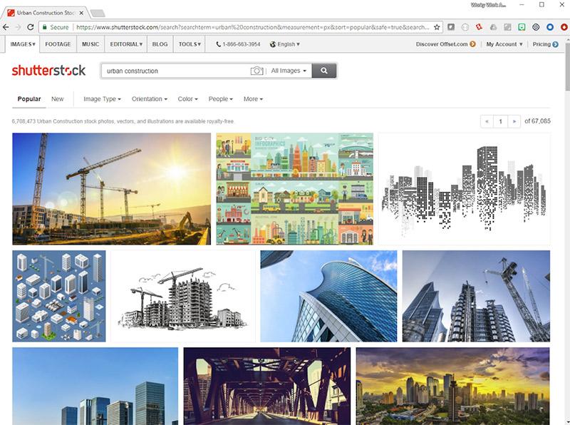Shutterstock удаляет водяные знаки с изображений в результатах поиска