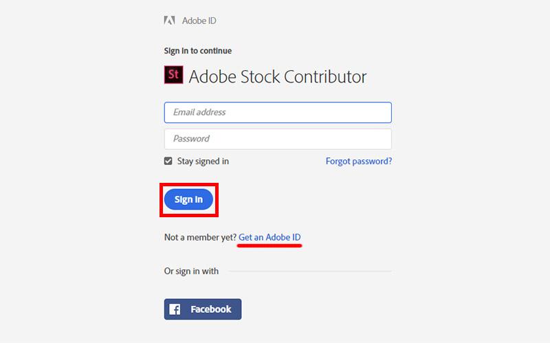 Регистрация на Adobe Stock автора для продажи фотографий, иллюстраций и видео