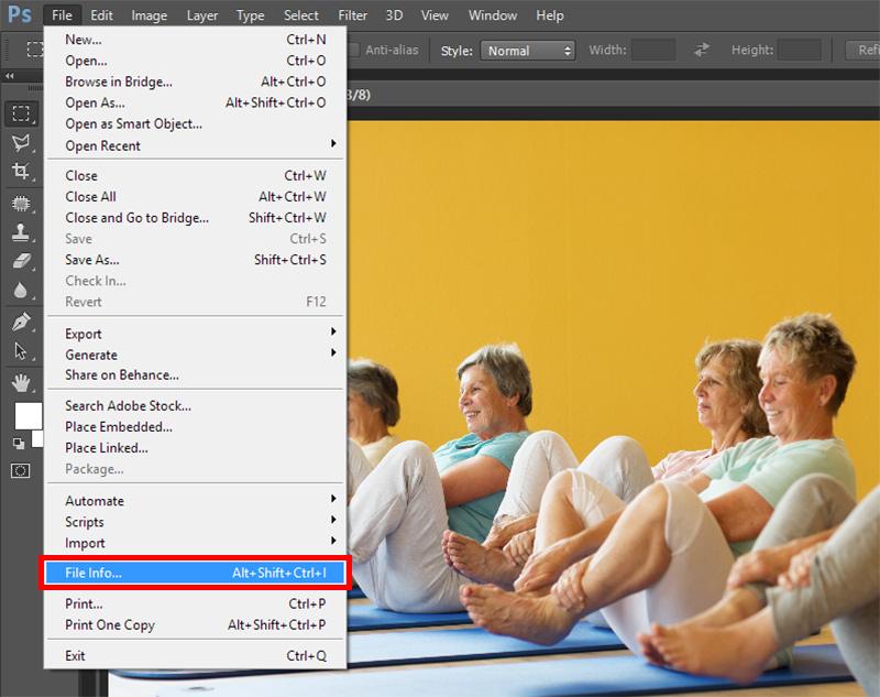 Как добавить метаданные к фотографии или иллюстрации через Adobe Photoshop?