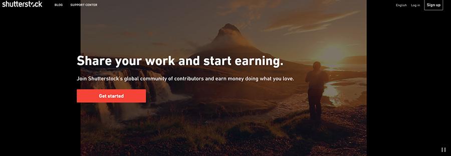 Shutterstock - вход для авторов.