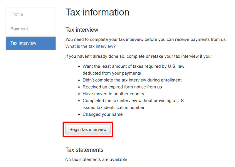Налоговое интервью для Istockphoto Getty Images. Tax Interview. Инструкция.