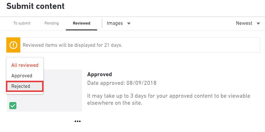 Shutterstockубрал вкладку Rejected в редакторе контента. Теперь все будет во вкладке Recently reviewed.