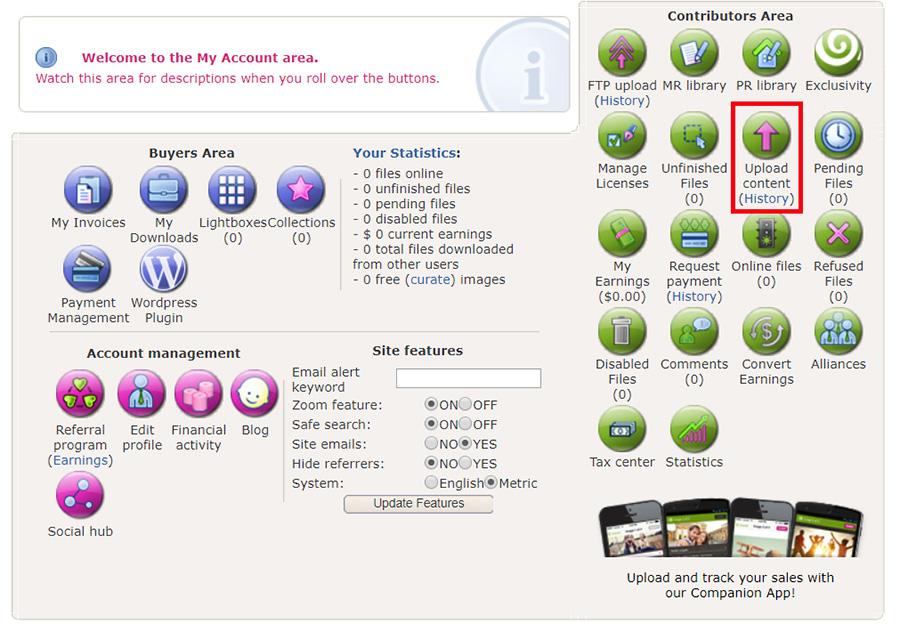 Загрузка фотографий на Dreamstime.com. Инструкция.