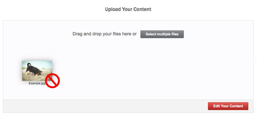 Почему мой контент не приняли из-за ранее утвержденного изображения?