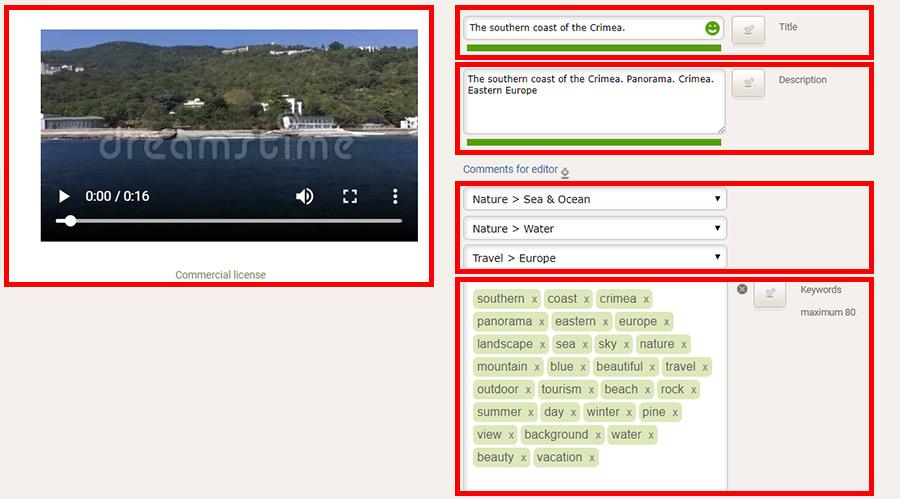 Загрузка видео работ в фотобанк Dreamstime. Инструкция.