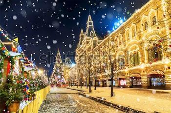 ГУМ. Москва. Зима. Купить фотографию в высоком разрешении.