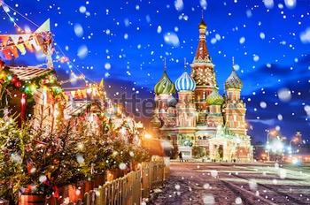 Красная площадь зимой. Купить фотографию в высоком разрешении.