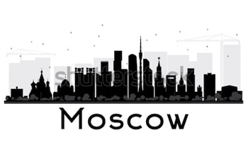 Силуэт Москва. Купить фотографию в высоком разрешении.