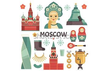 Кремль. Иллюстрация. Царь Колокол. Кокошник. Сити. Купить фотографию в высоком разрешении.