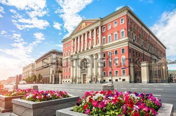 Мэрия Москвы. Купить фотографию в высоком разрешении.
