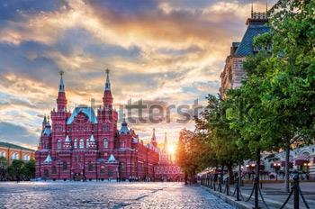 Исторический музей на Красной Площади. Купить фотографию в высоком разрешении.
