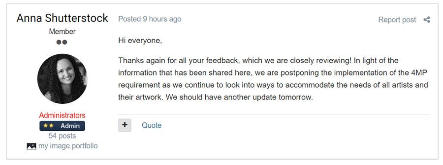 Shutterstock отменяет ввод новых правил загрузки векторов! Ура. Победа!