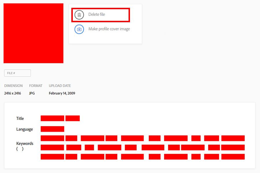 Как удалить файл из портфолио на Adobe Stock? Инструкция.