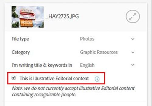 Как отправить редакционный контент на Adobe Stock?