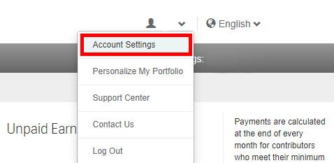 Как удалить или деактивировать аккаунт автора на Shutterstock.com?