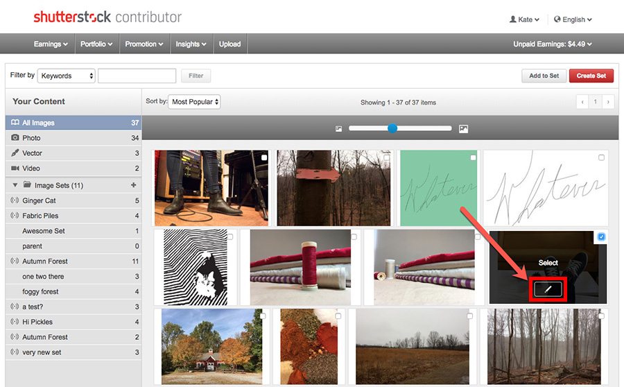 Как отредактировать или удалить изображение на Shutterstock.com?