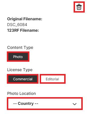 Загрузка фотографий в фотобанк 123RF.com. Инструкция.