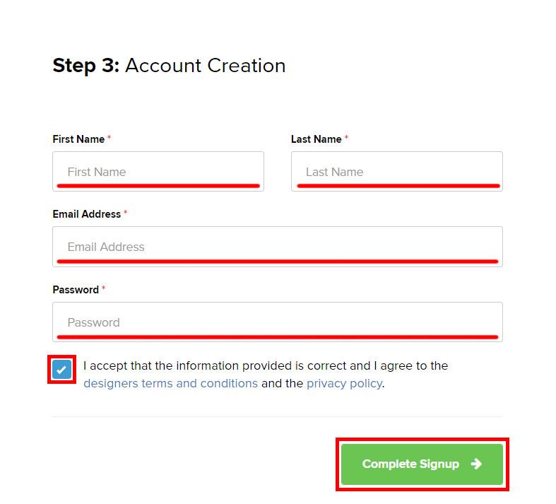 Регистрация Автора на Designbundles. Инструкция.