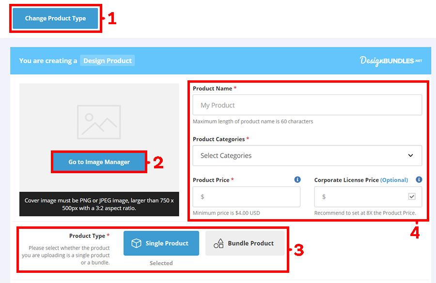 Регистрация Автора на Designbundles. Инструкция. Загрузка первого продукта.