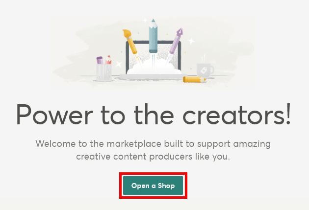 Регистрация Автора на Creative Market. Инструкция. Открываем свой магазин.