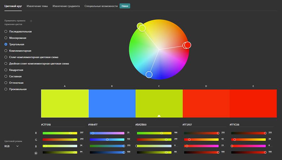 Сервисы для работы с цветом. Топ 1. Adobe Color. Адоб Колор.