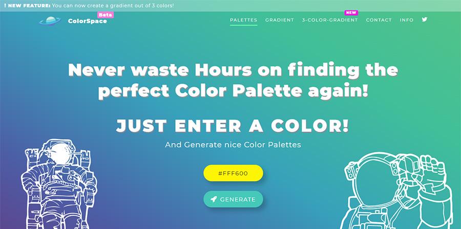 Сервисы для работы с цветом. Топ 7. Mycolor.Space.