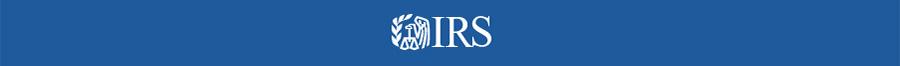 Логотип IRS (The Internal Revenue Service). Налоговое Управление США.