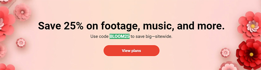 Весенняя распродажа на Shutterstock.com. Скидка 25% на всё. Акция действует до 10 марта 2021 года.