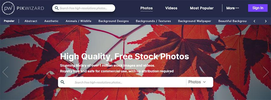 Pikwizard. 26 Бесплатных фотостоков для дизайнеров и маркетологов. +6 Бесплатных коллекций на коммерческих микростоках.