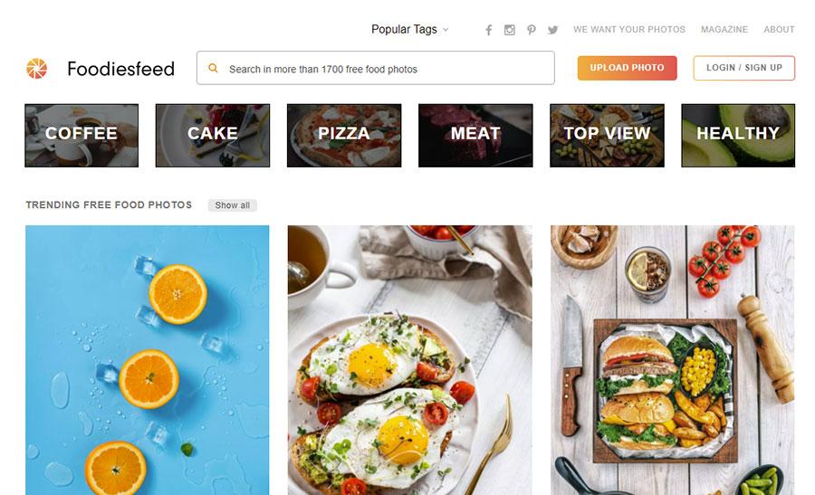 Foodiesfeed. 26 Бесплатных фотостоков для дизайнеров и маркетологов. +6 Бесплатных коллекций на коммерческих микростоках.
