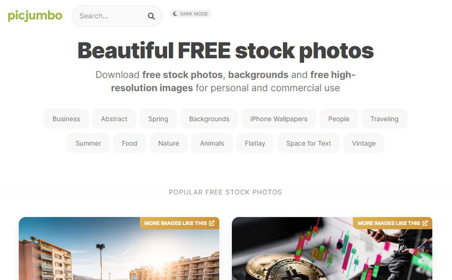Picjumbo. 26 Бесплатных фотостоков для дизайнеров и маркетологов. +6 Бесплатных коллекций на коммерческих микростоках.