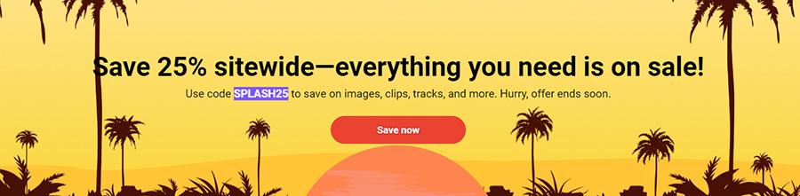 Летняя распродажа на Shutterstock.com. Скидка 25% на всё. Акция действует до 2 июня 2021 года.