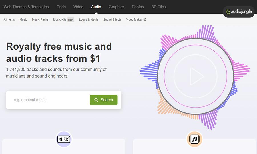 Музыка для видео на YouTube. Как выбрать и где купить? 15 Лучших сайтов. Audiojungle.net.