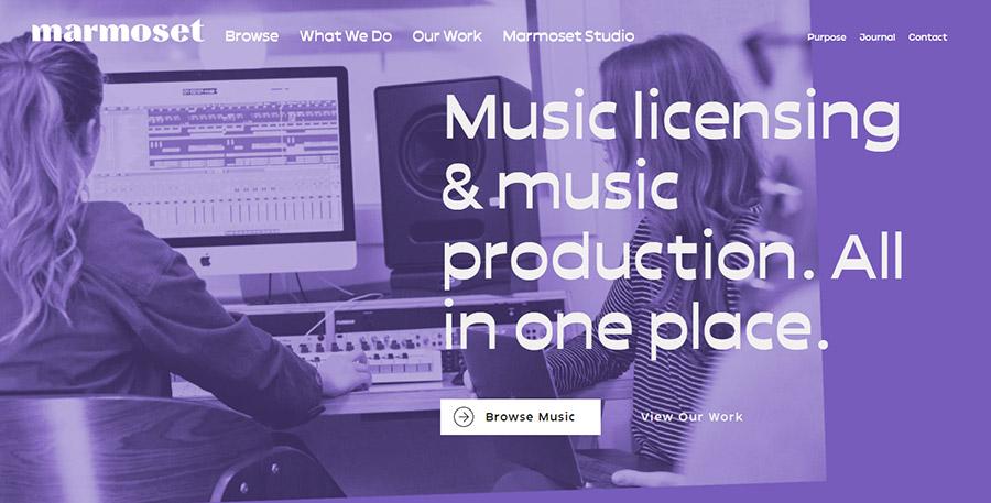 Музыка для видео на YouTube. Как выбрать и где купить? 15 Лучших сайтов. Marmosetmusic.com.