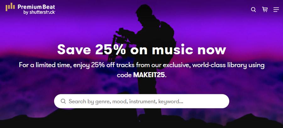 Музыка для видео на YouTube. Как выбрать и где купить? 15 Лучших сайтов. Premiumbeat.com.
