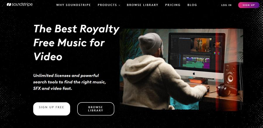 Музыка для видео на YouTube. Как выбрать и где купить? 15 Лучших сайтов. Soundstripe.com.