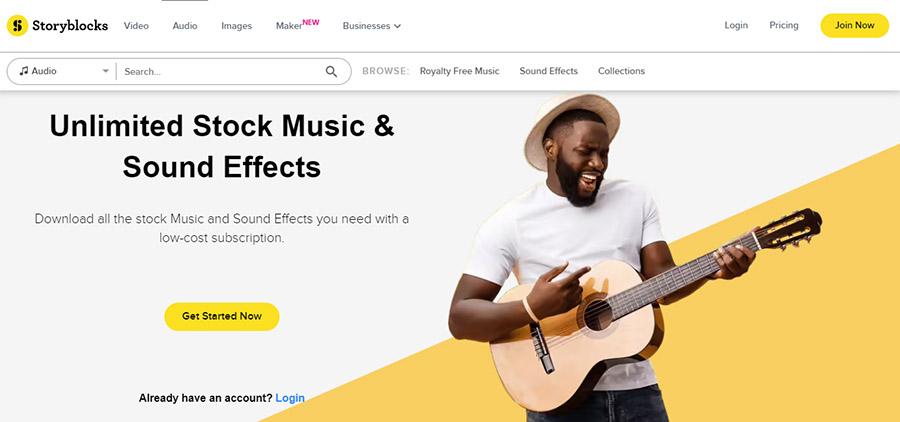 Музыка для видео на YouTube. Как выбрать и где купить? 15 Лучших сайтов. Storyblocks.com.